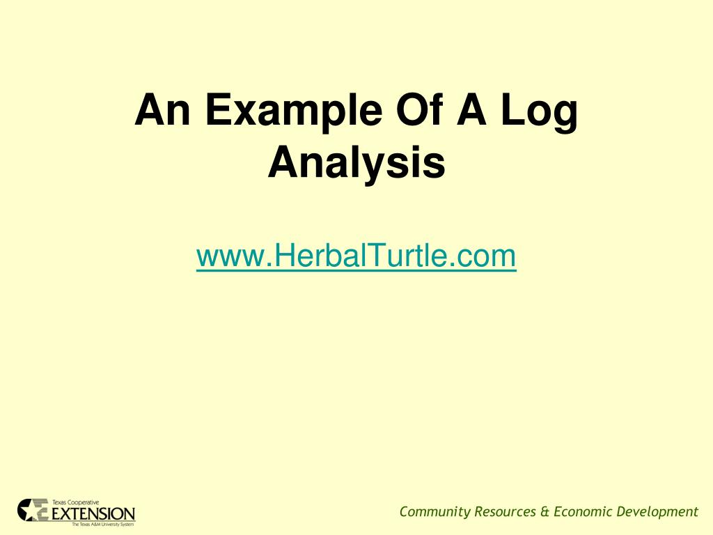 An Example Of A Log Analysis