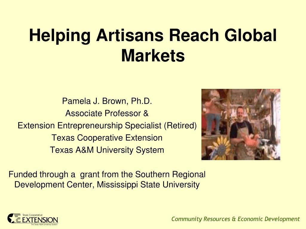 Helping Artisans Reach Global Markets