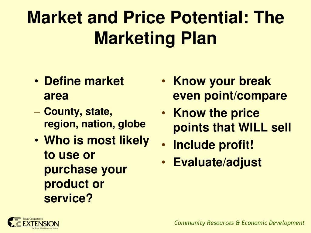 Define market area