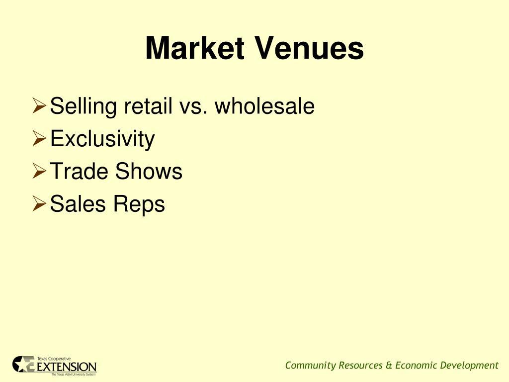 Market Venues