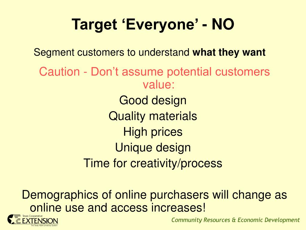 Target 'Everyone' - NO