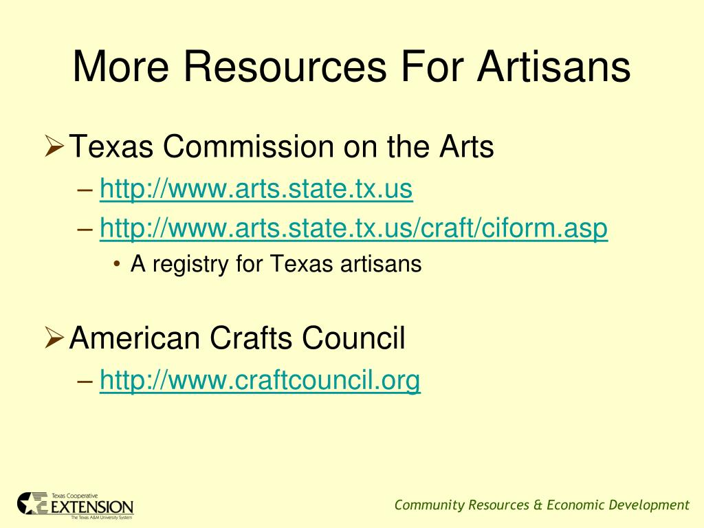 More Resources For Artisans