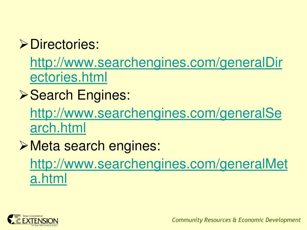 Directories: