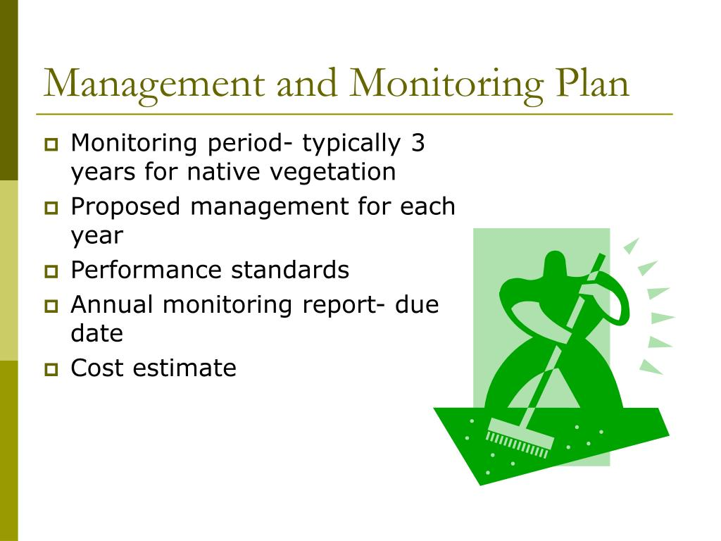 Management and Monitoring Plan