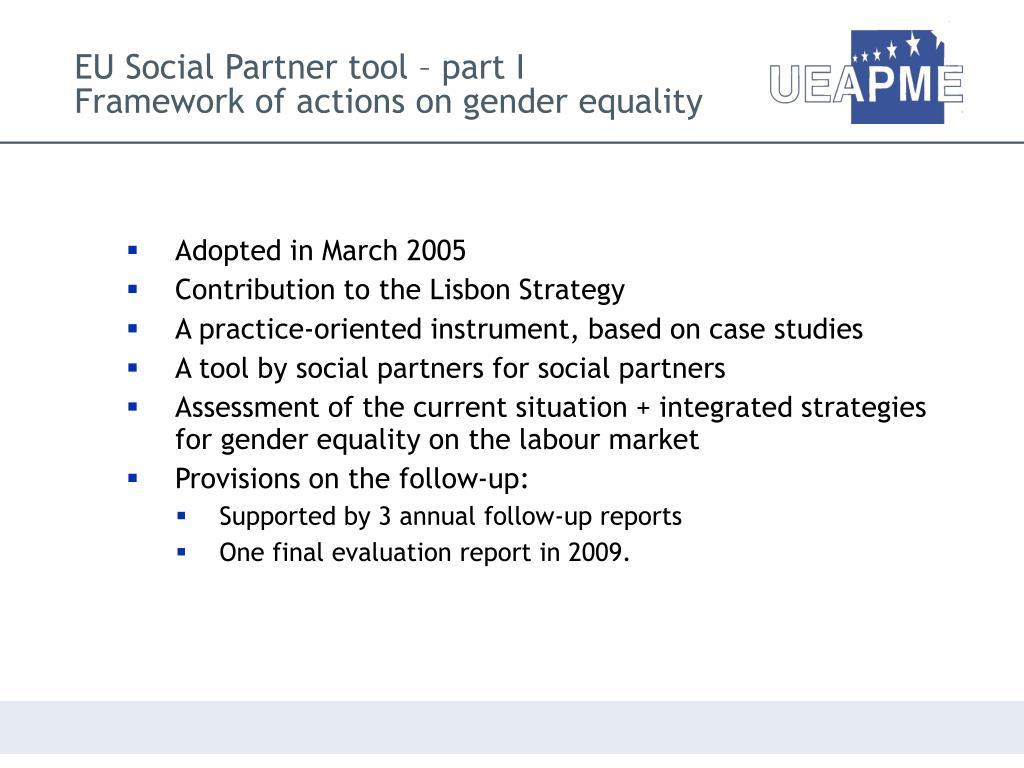 EU Social Partner tool – part I