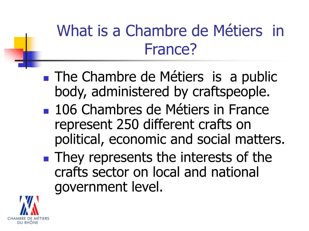 What is a Chambre de Métiers  in France?