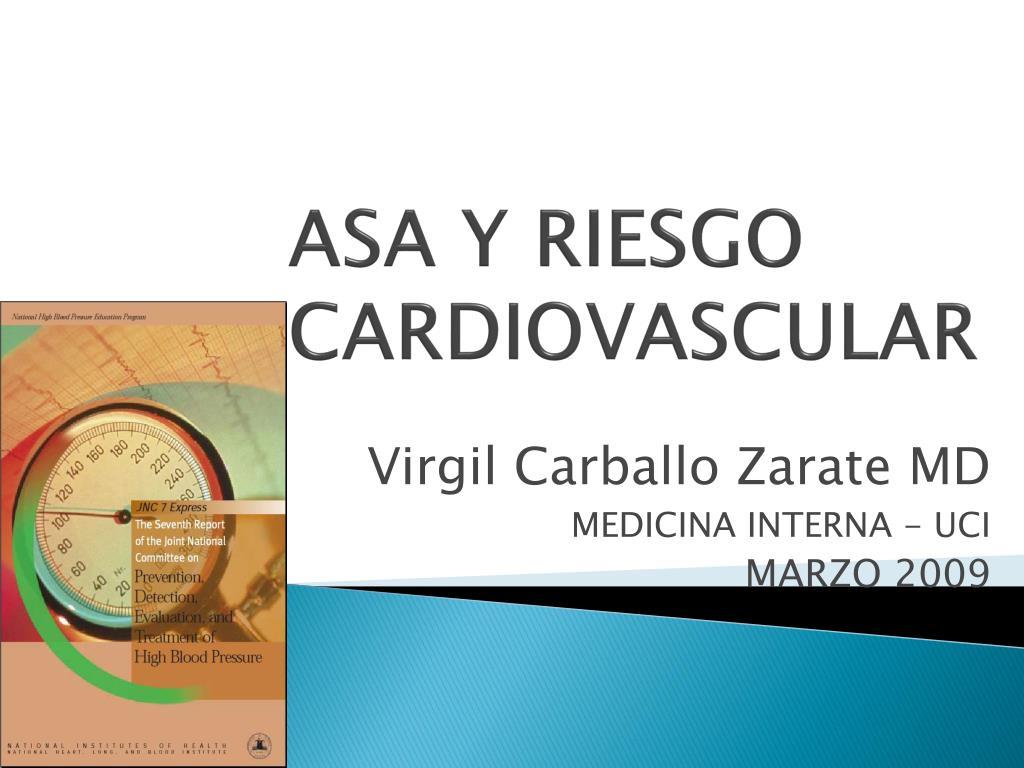 ASA Y RIESGO CARDIOVASCULAR