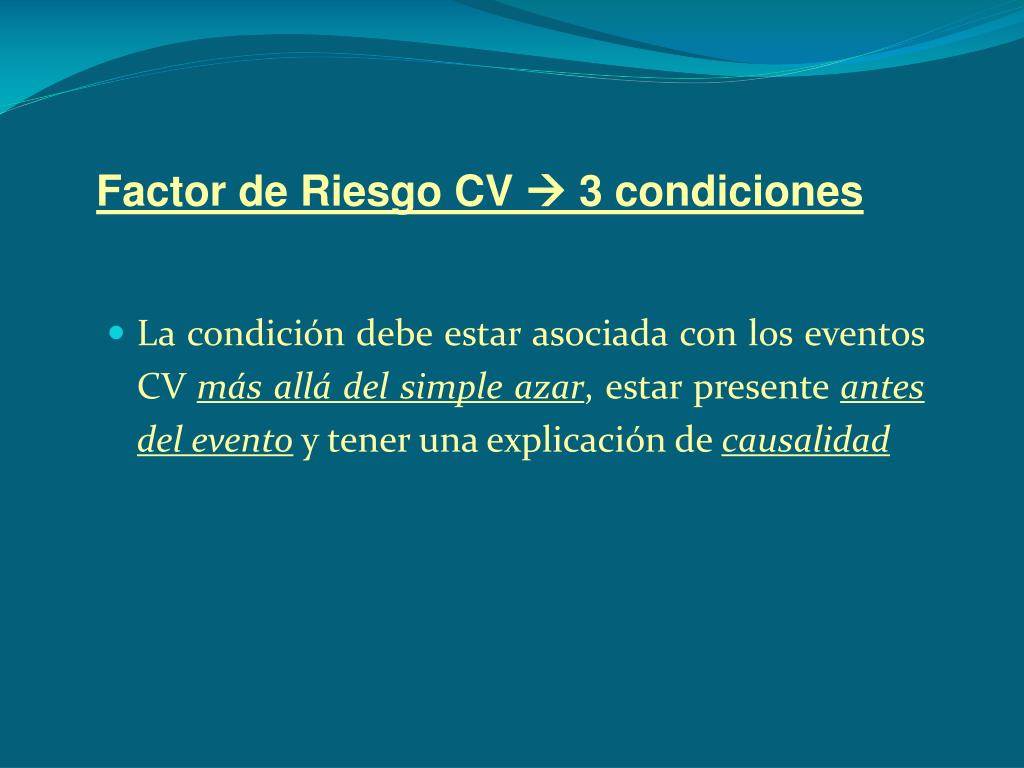 Factor de Riesgo CV