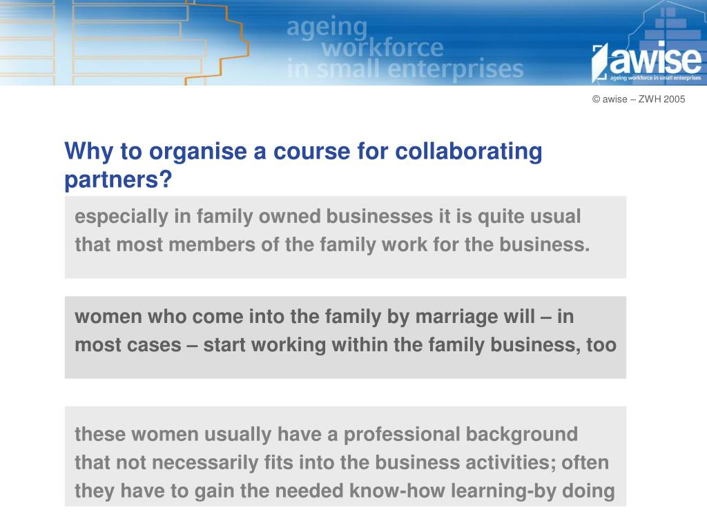 Why to organise a course for collaborating