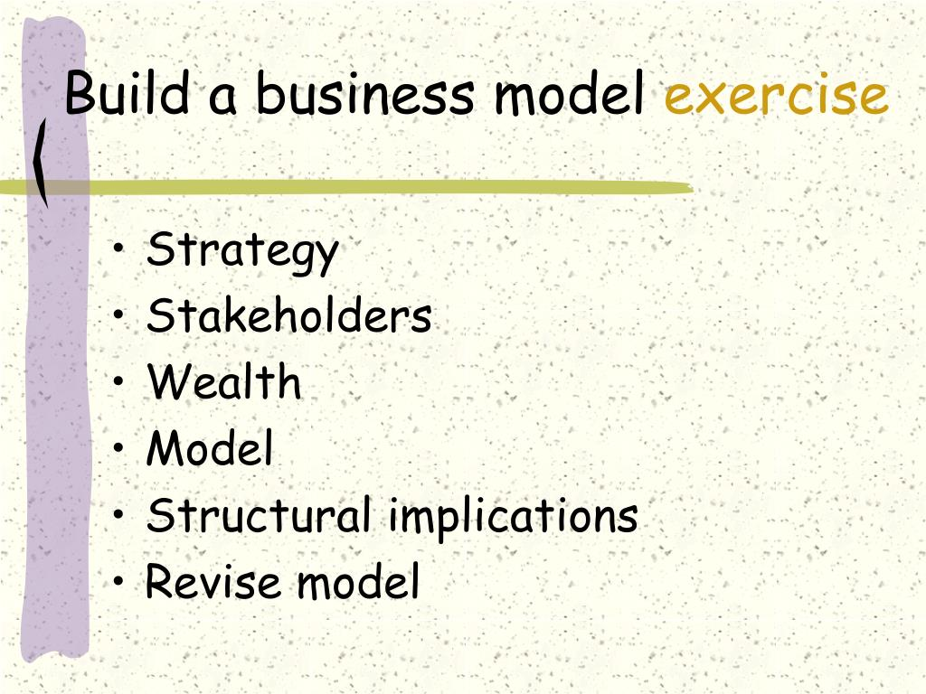 Build a business model