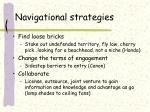 navigational strategies