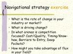navigational strategy exercise