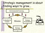 strategic management is about finding ways to grow