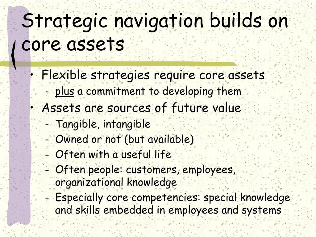 Strategic navigation builds on core assets