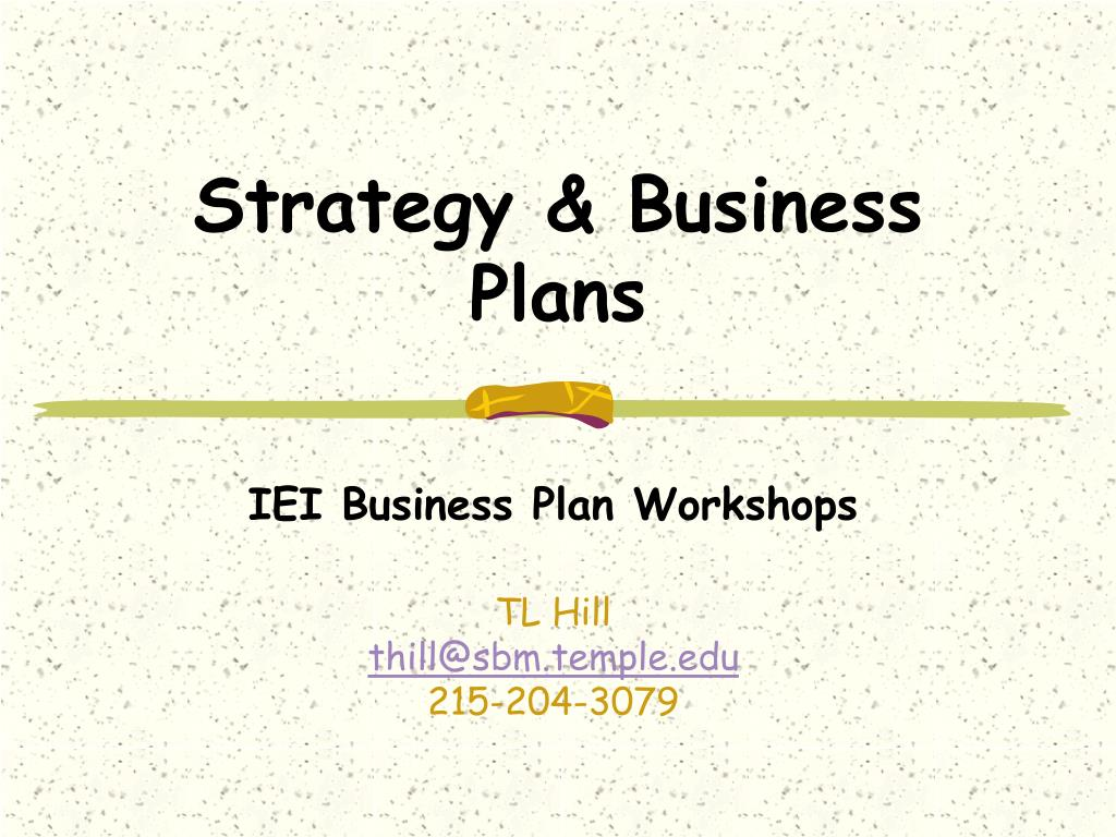 strategy business plans