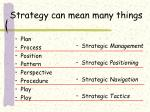 strategy can mean many things