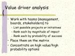value driver analysis47