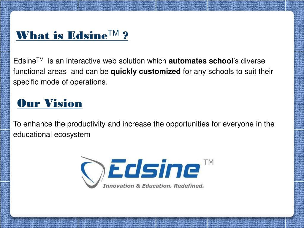 Edsine