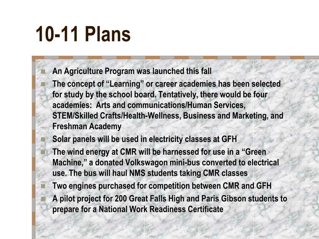 10-11 Plans