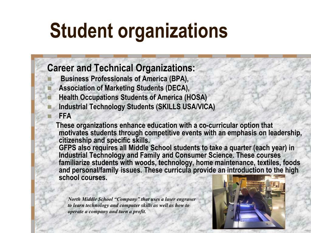 Student organizations