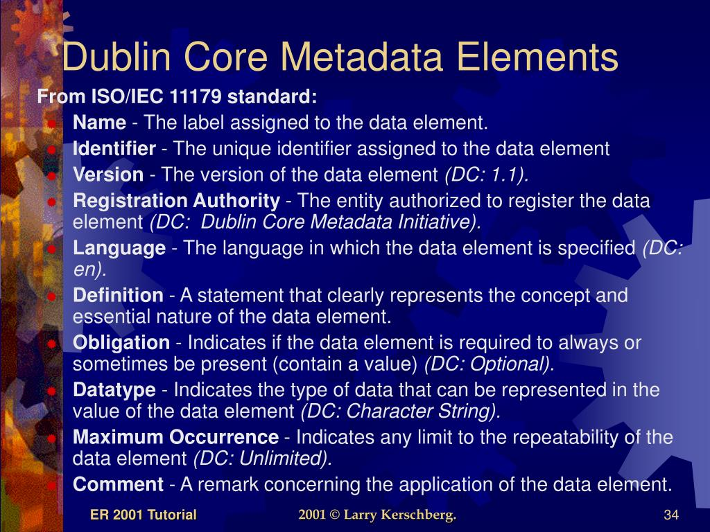 Dublin Core Metadata Elements