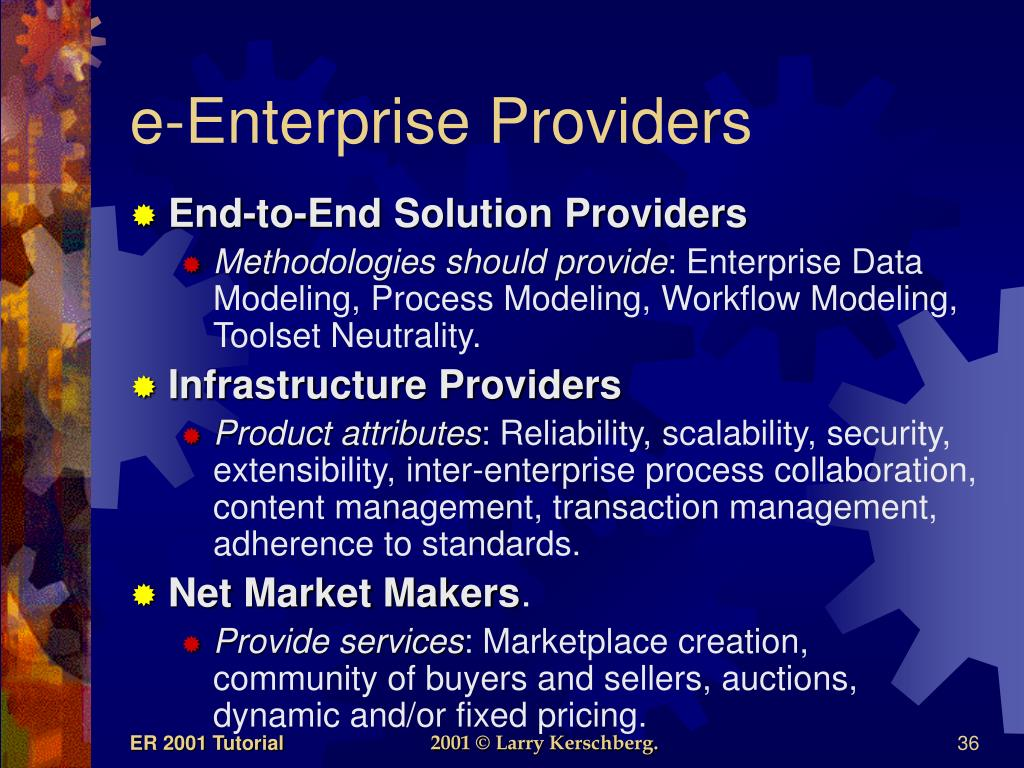 e-Enterprise Providers