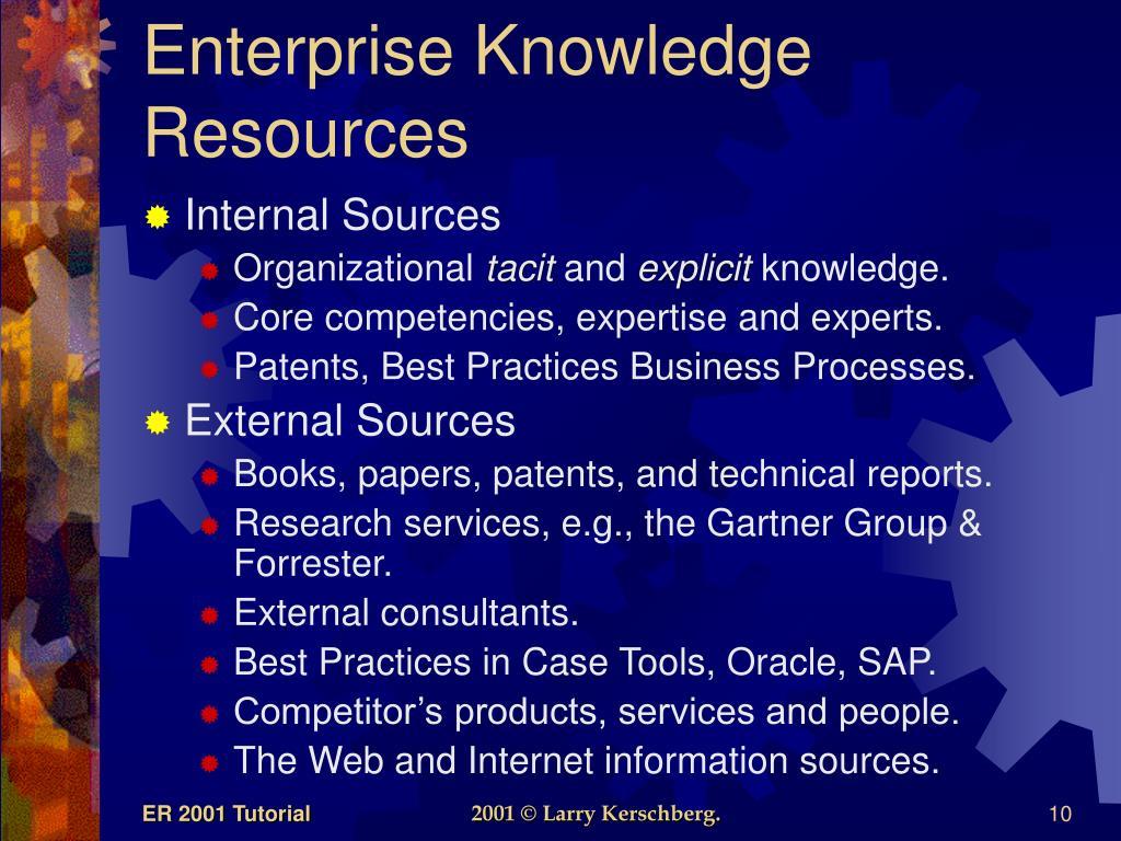 Enterprise Knowledge Resources