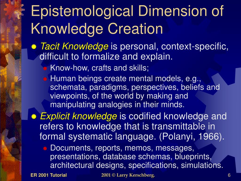 Epistemological Dimension of