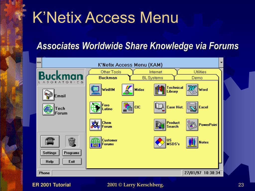 K'Netix Access Menu