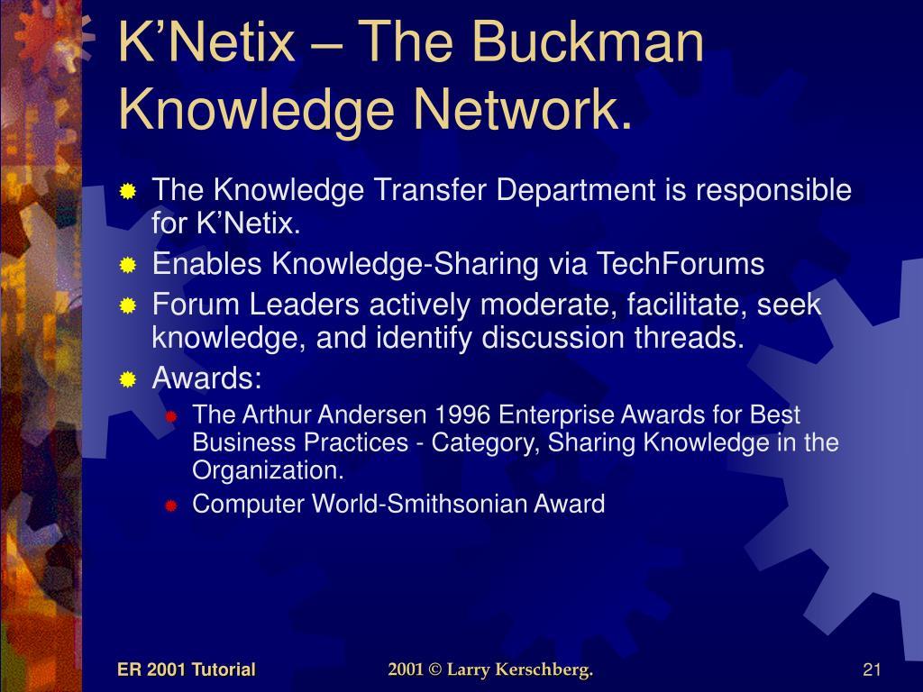 K'Netix – The Buckman Knowledge Network.