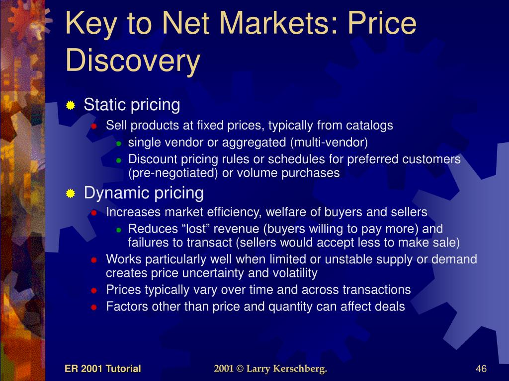 Key to Net Markets: Price Discovery