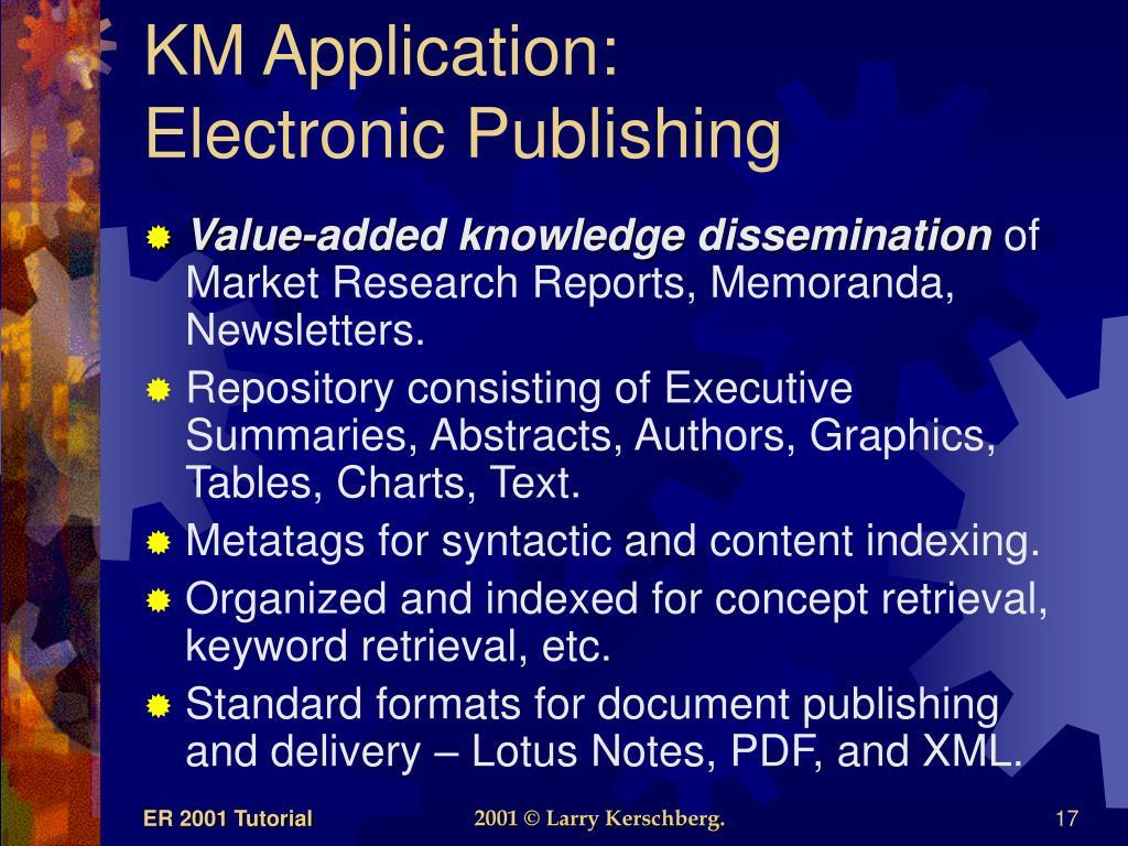 KM Application: