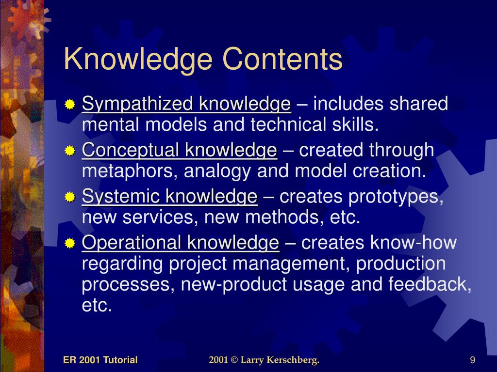 Knowledge Contents