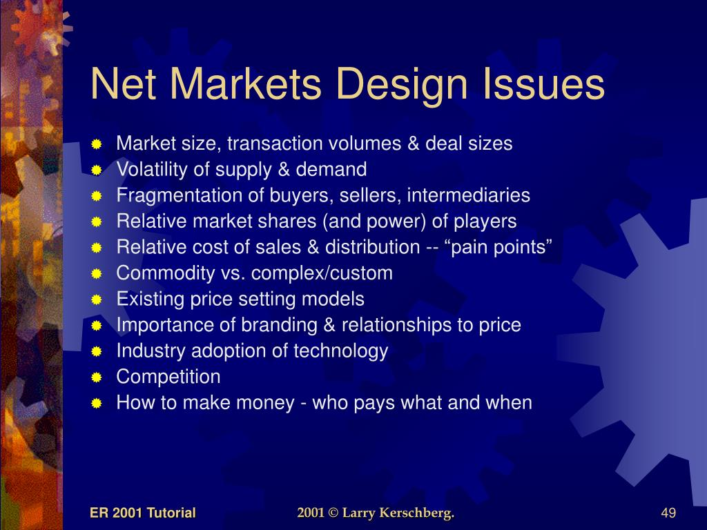 Net Markets Design Issues
