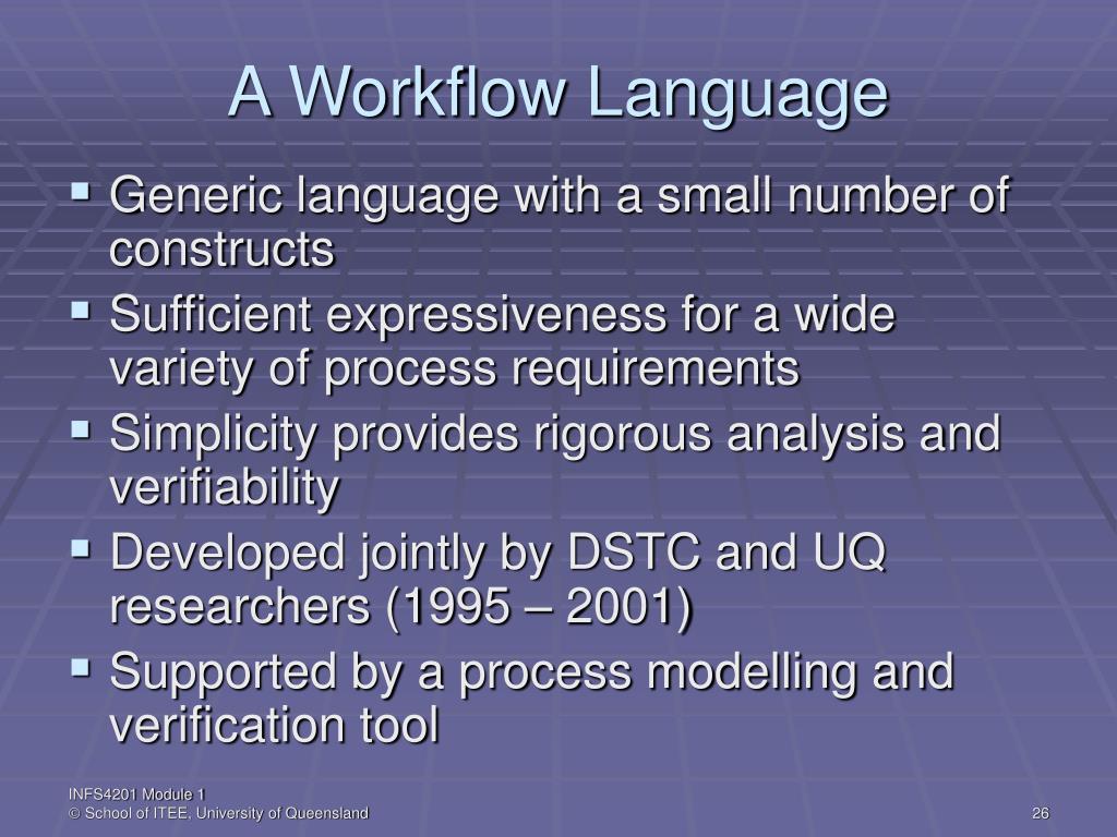 A Workflow Language