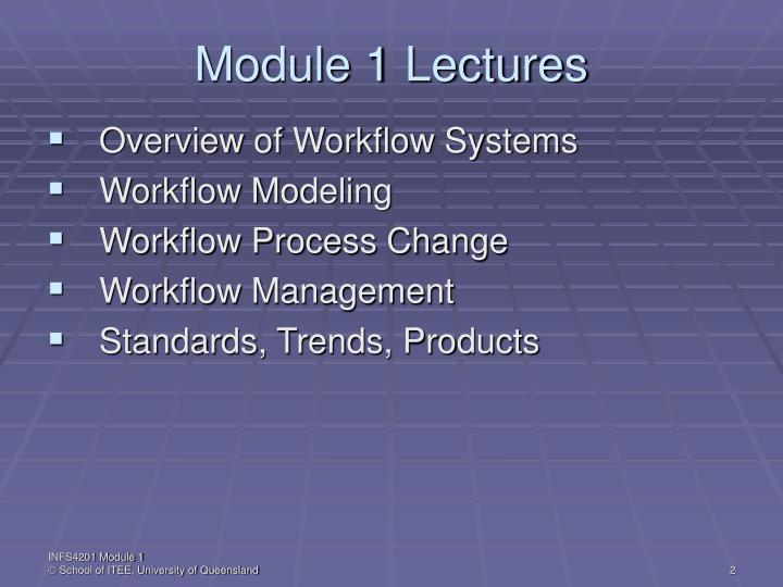 Module 1 lectures