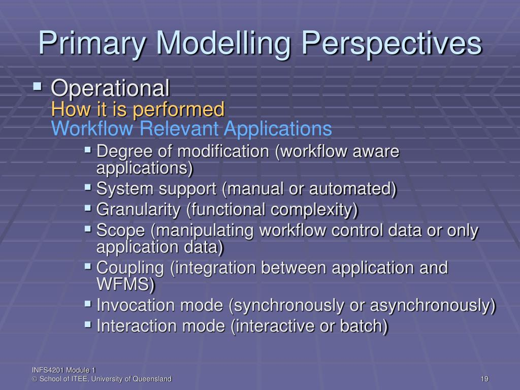 Primary Modelling Perspectives