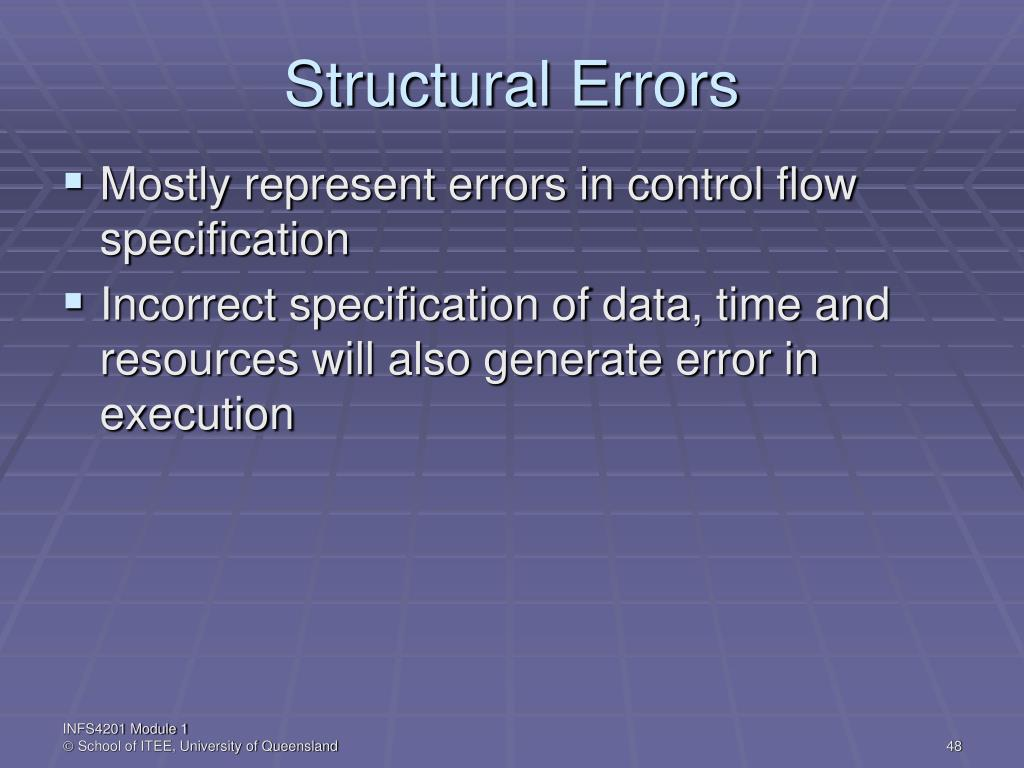 Structural Errors