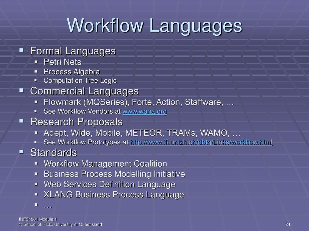 Workflow Languages
