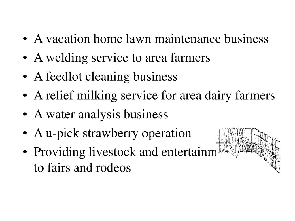 A vacation home lawn maintenance business