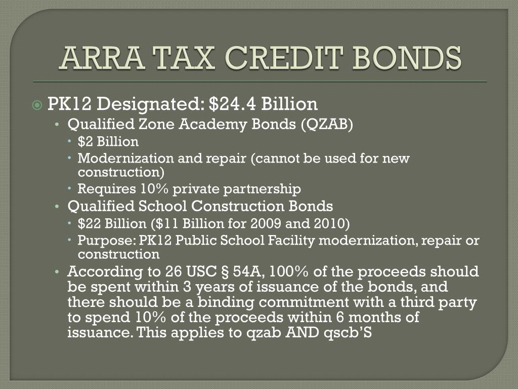 ARRA TAX CREDIT BONDS
