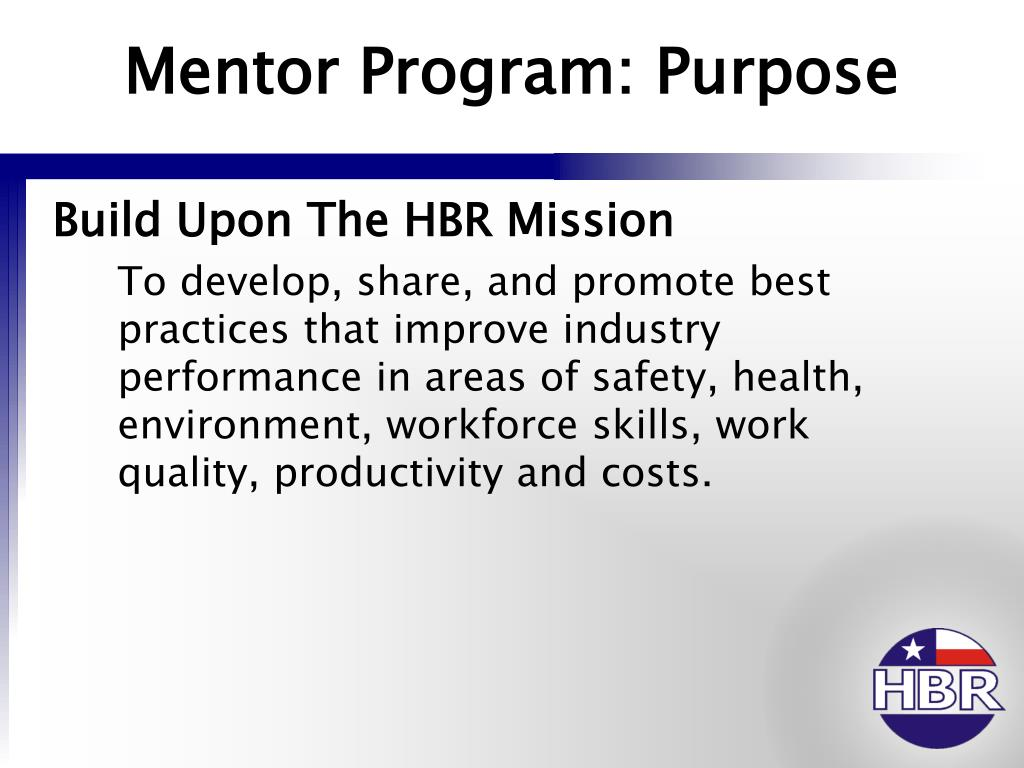 Mentor Program: Purpose