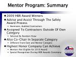 mentor program summary