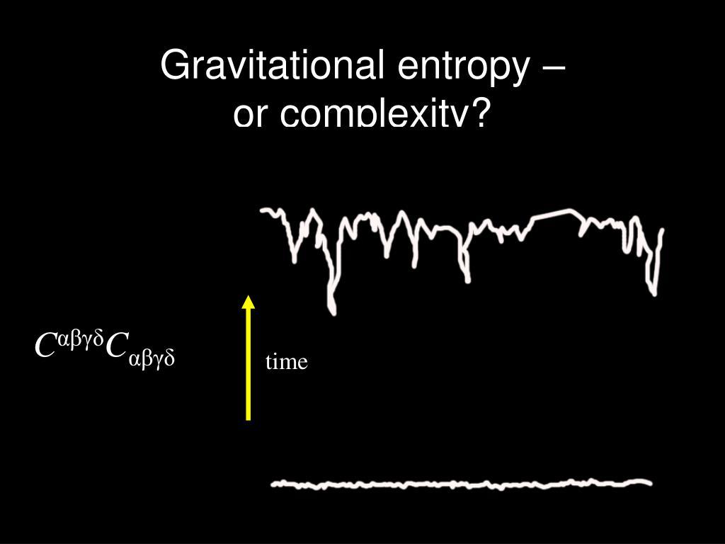 Gravitational entropy –