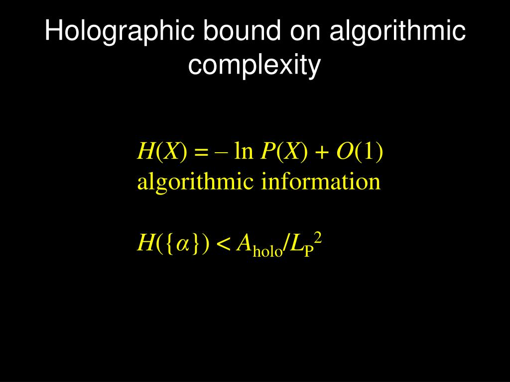 Holographic bound on algorithmic complexity