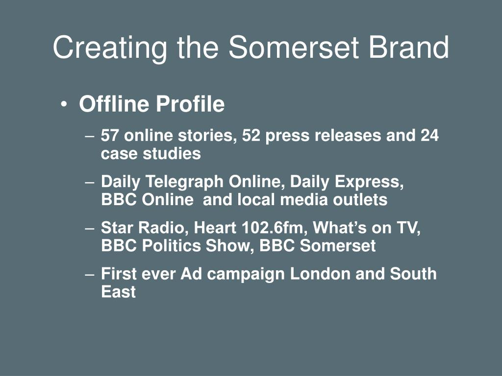 Creating the Somerset Brand
