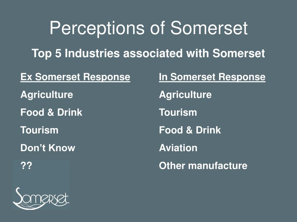 Perceptions of Somerset