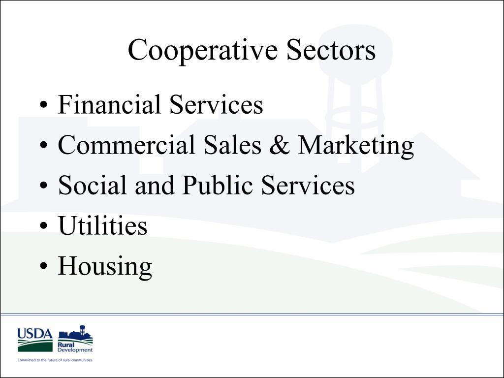 Cooperative Sectors