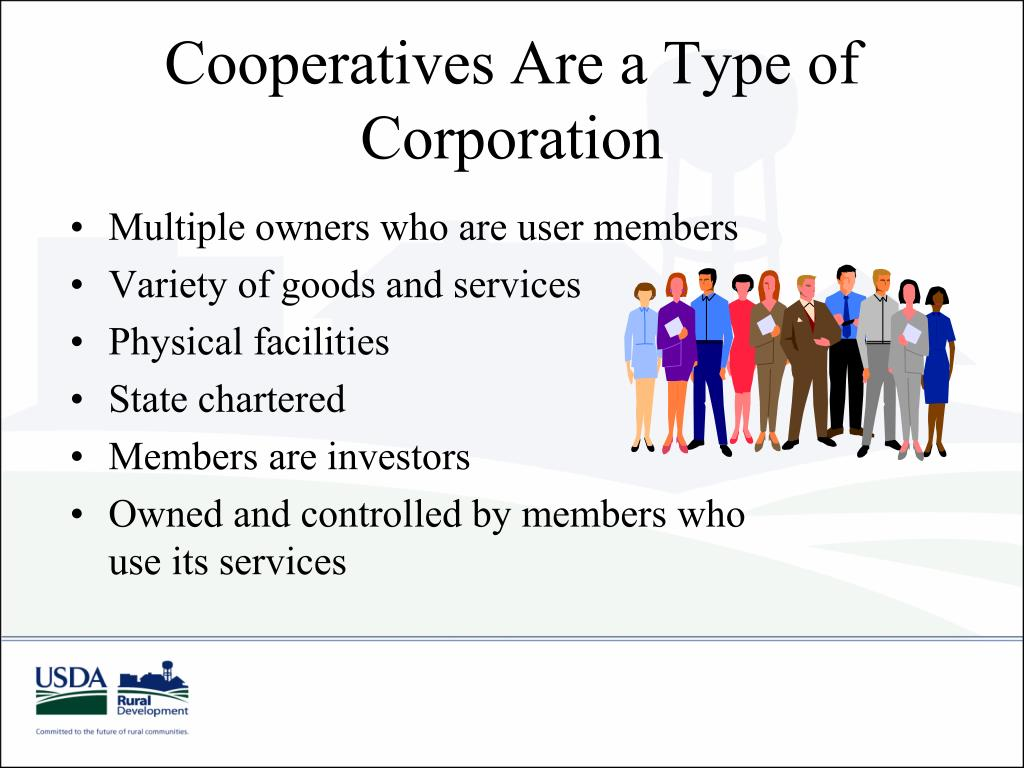 Cooperatives Are a Type of Corporation