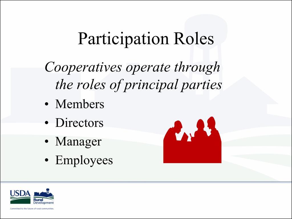 Participation Roles